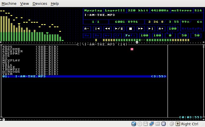 MS DOS звуковой проигрыватель .