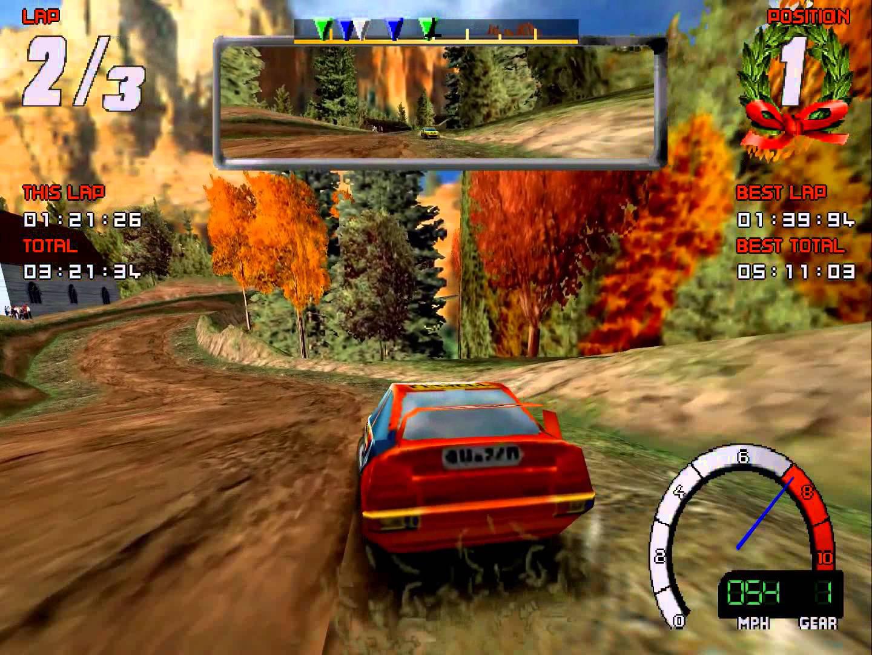 Играем с 3DFx VooDoo в ms-dos игру Screamer Rally.