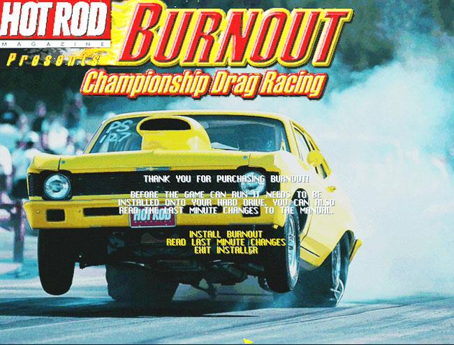 Игра Drag Racing 1998 года для 3Dfx Voodoo