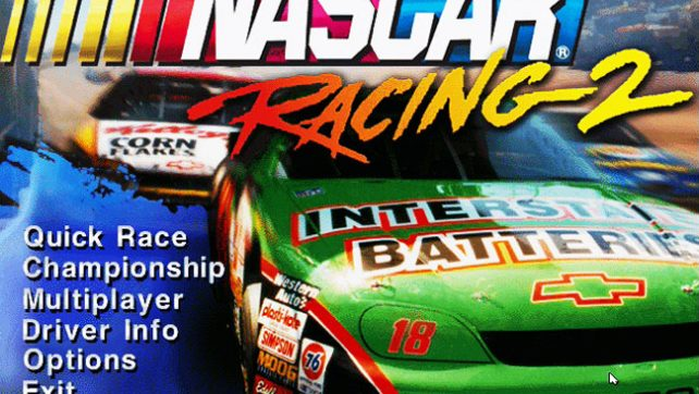 Nascar racing 2 - ms-dos 3Dfx игра 1996 года.