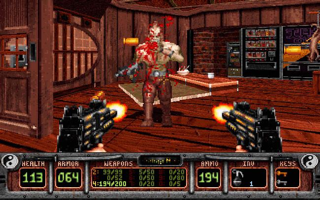 Игра Shadow Warrior 1997 года на движке Build Engine.