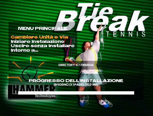 Tie Break Tennis 98 - MS DOS игра времён заката DOS.