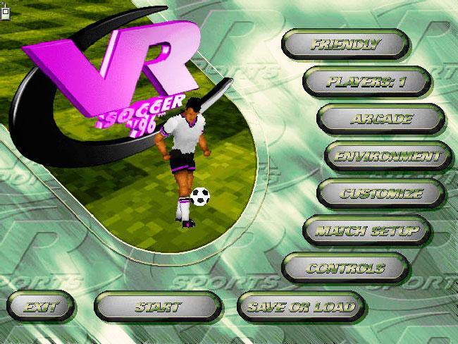 Запустить игру ms dos VR Soccer 96 на старой машине.