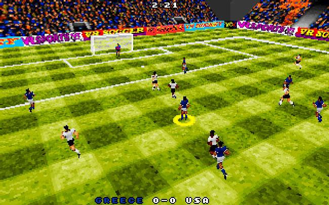 Запускаем игру ms dos VR Soccer 96.