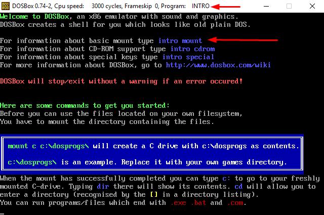 Миниатюрный DOSBox help.