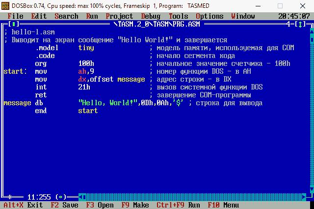 Русификация раскладки клавиатуры в DOSBox.